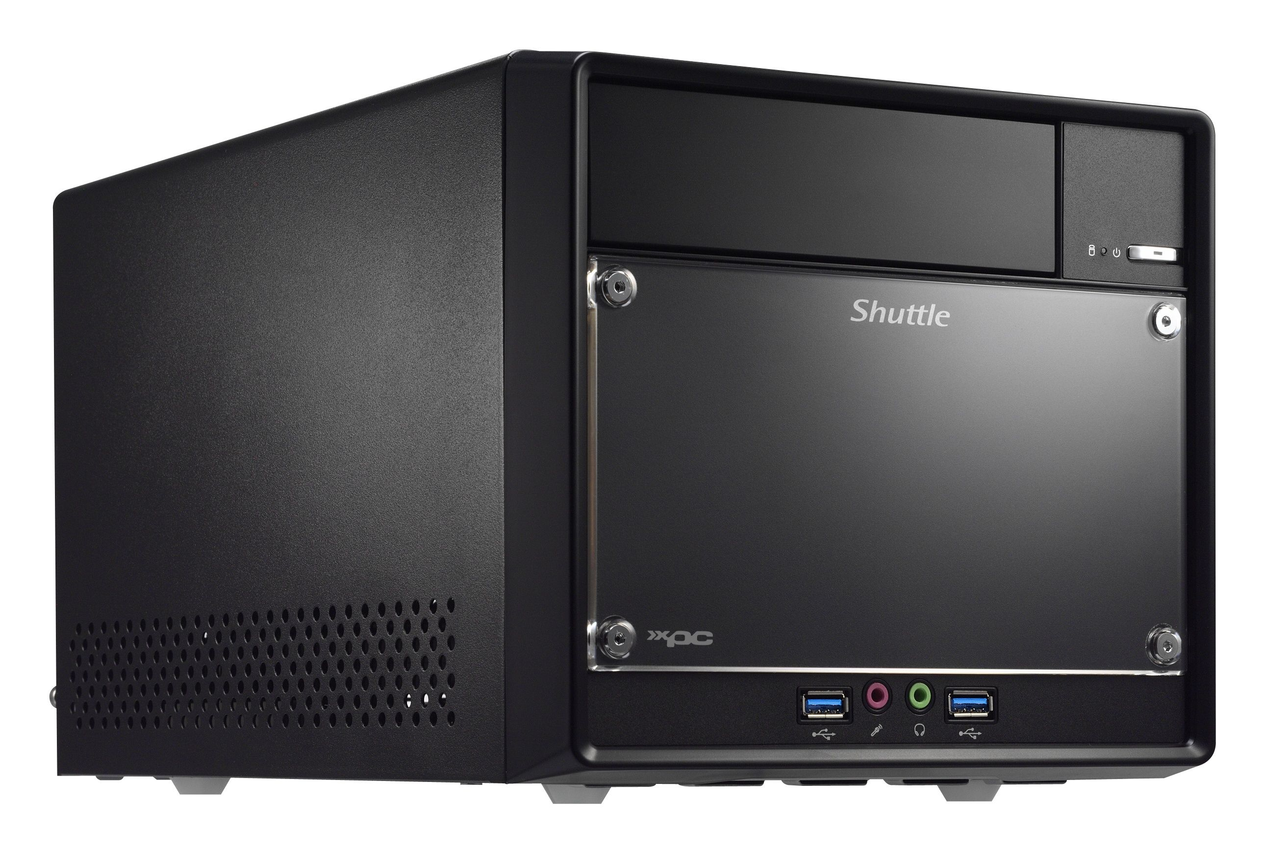 Shuttle sh110r4 intel h110 desktop black pc workstation barebone ebay