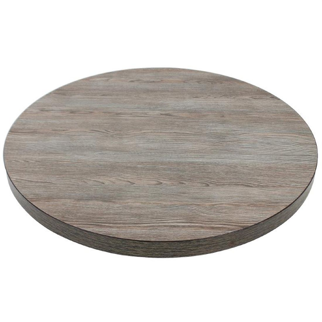 Details About Bolero Round Table Top Vintage Wood 600mm Next Working Day Uk Delivery