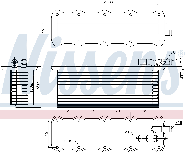 NISSENS 96318 Charge Air Intercooler