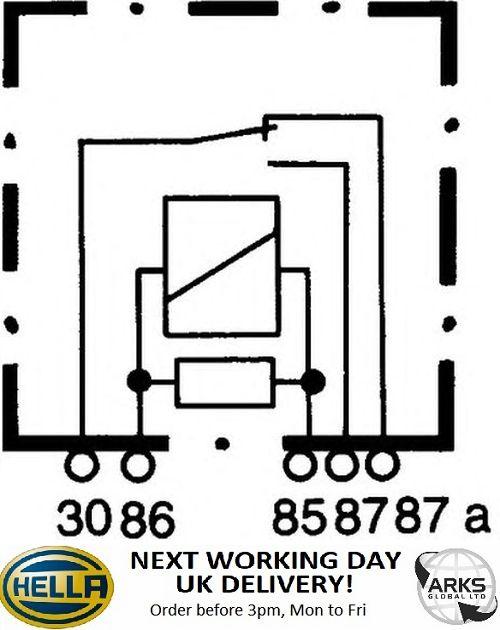 4RA 003 437-101 HELLA Relay main current 12 V