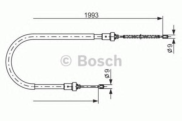 Opel 1984-1991 Complete Handbrake Cable TP BC2233 Vauxhall Astra /& Astra Van