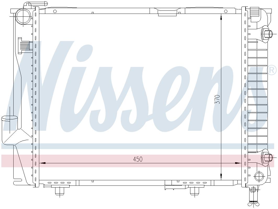 Nissens 60854 Radiator engine cooling
