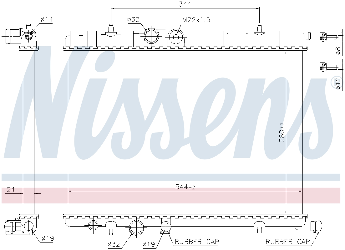 engine cooling Nissens 63502 Radiator