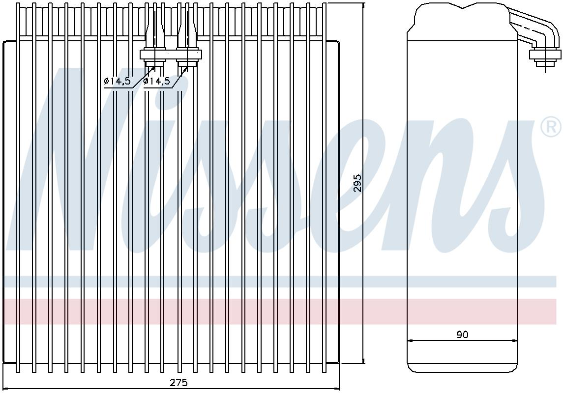92295 3 Year Guarantee NISSENS Air-con Evaporator