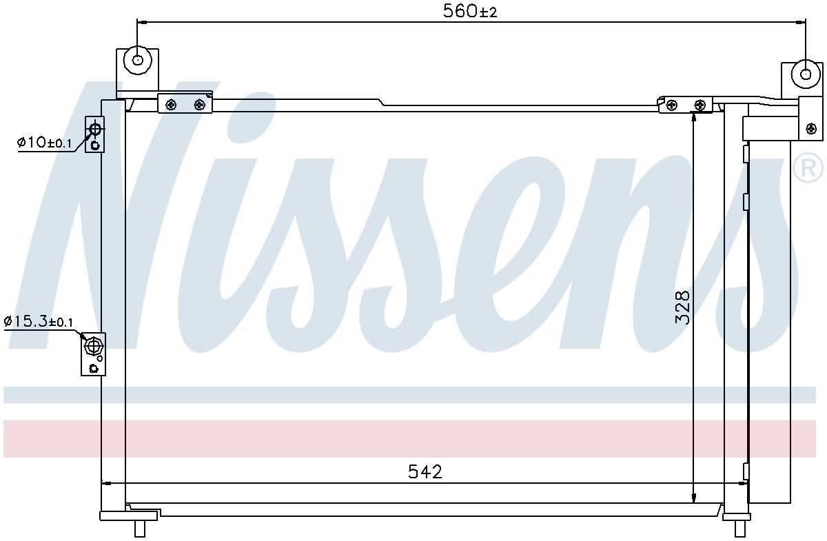 940143 JOUR OUVRABLE SUIVANT LA LIVRAISON au Royaume-Uni Nissens Air-détenu à condensateur