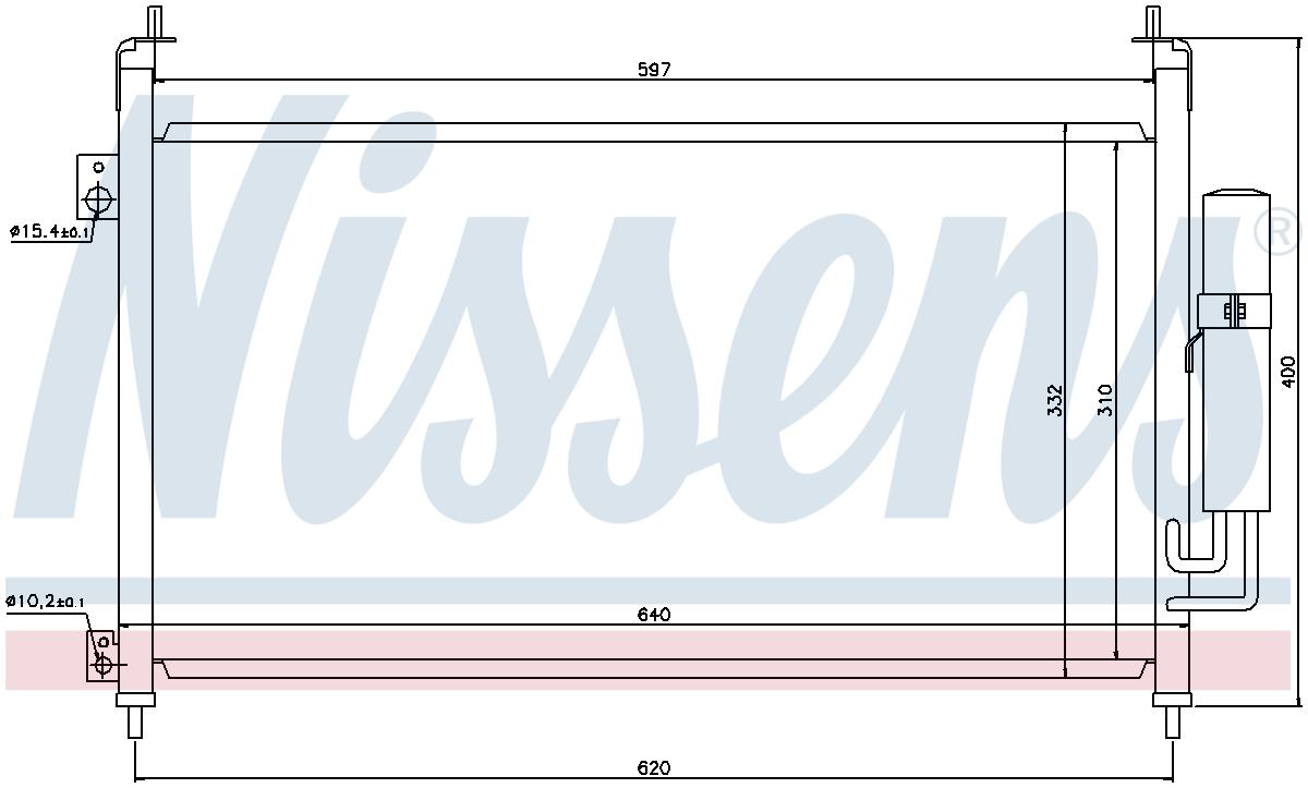 Nissens 94403 Air-détenu à condensateur Spec ordre non-UK stock