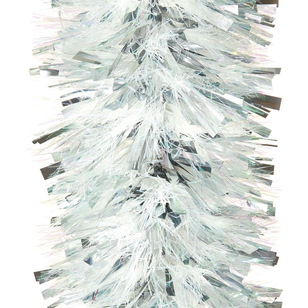 Christmas Tree Tinsel.Details About Peeks 2m Chunky Silver Christmas Xmas Tree Tinsel Garland Decoration