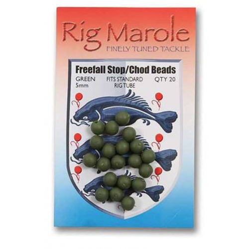 Black or Green Pack of 20 Rig Marole Fishing Freefall 5mm Stop Chod Tube Beads