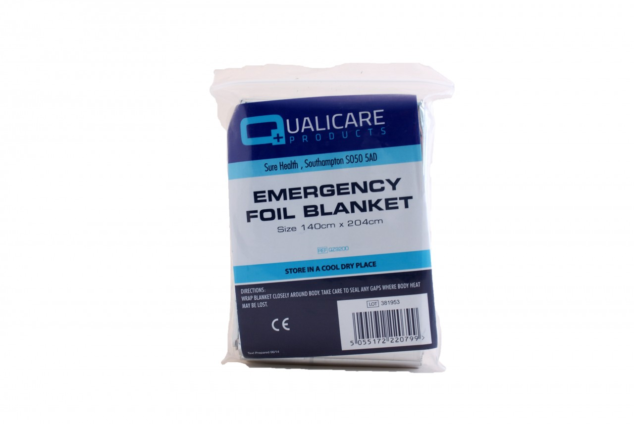 3x Qualicare Premium Foil Thermal Emergency Blanket First Aid Camping