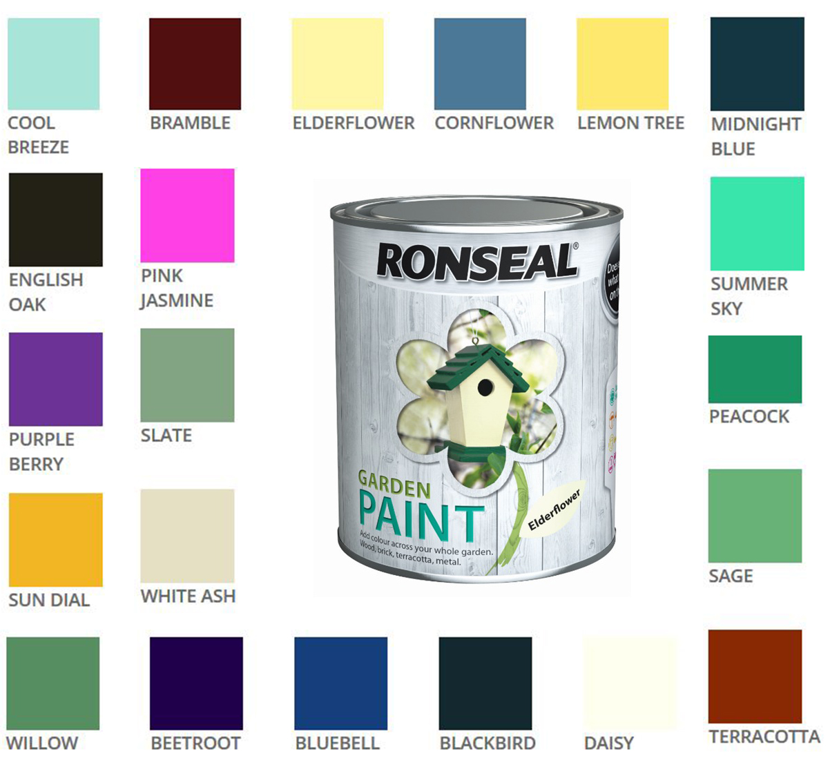 Mouse Over Image For A Closer Look Patio Colorful Outdoor Chairs. Ronseal Garden  Paint. Garden Paint Ronseal Colours