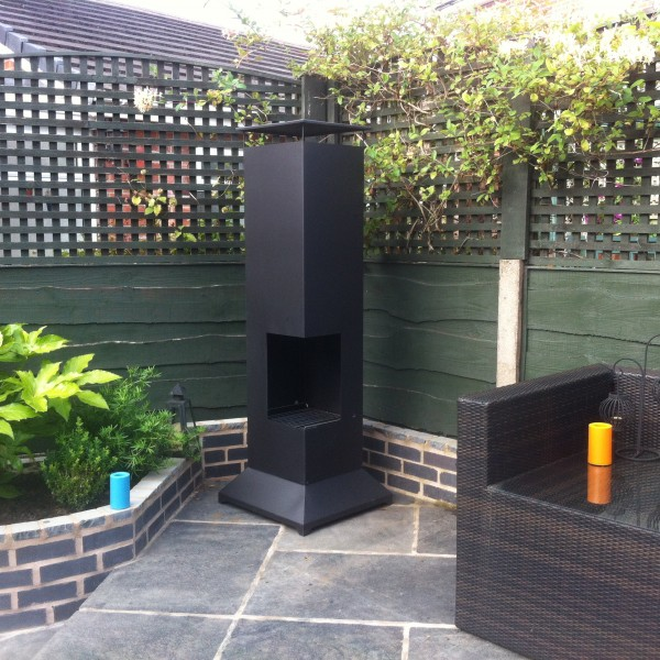 Steel Garden Fire Burner Pillar Chiminea With Bbq Grill Ideal For