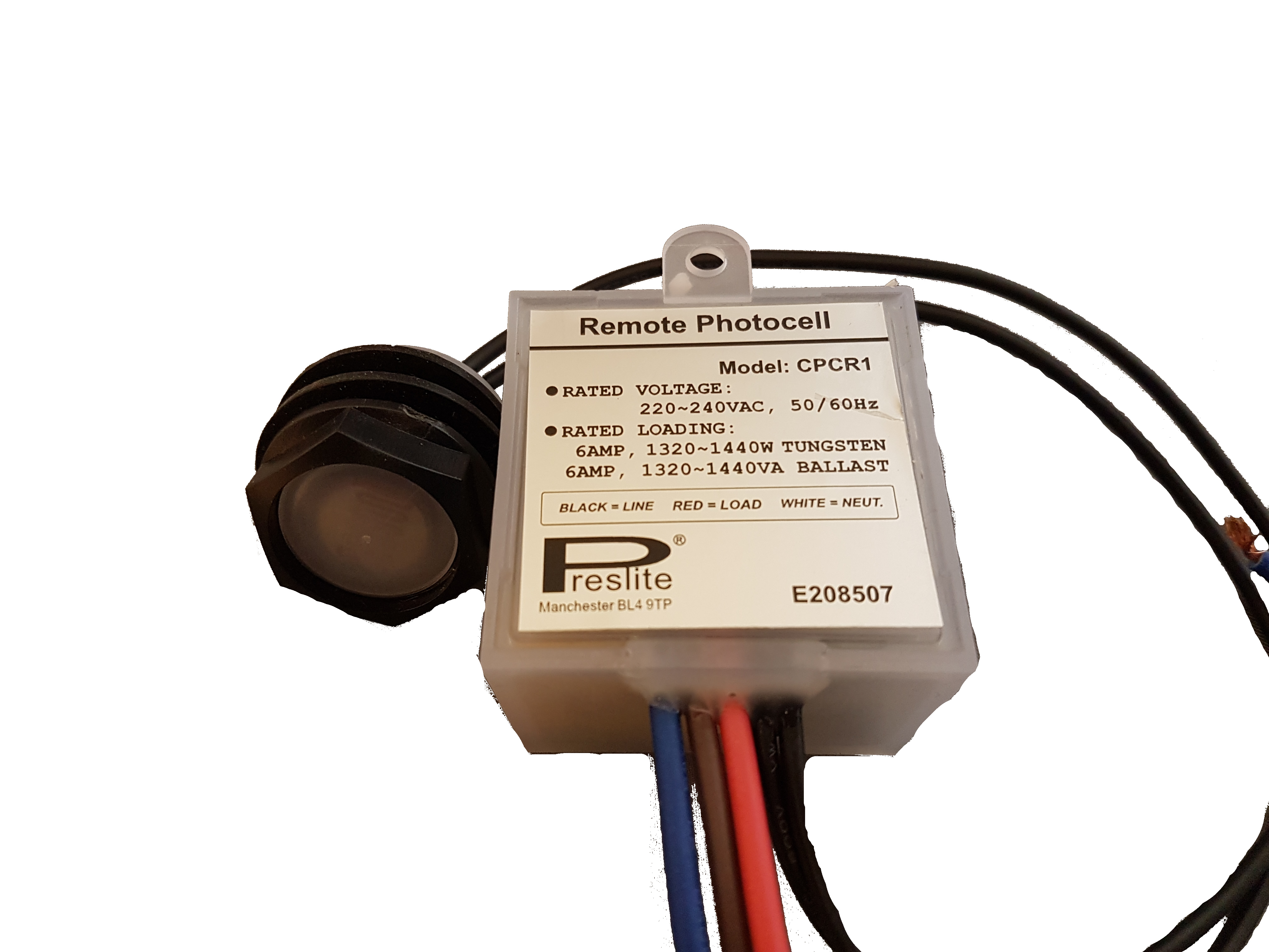 Sentinel CPCR1 Remote Photocell Automatic Dusk To Dawn Light Sensor Lighting  Switch