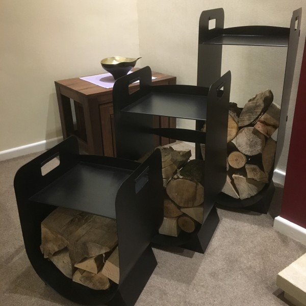 New Made O\' Metal Indoor Home Fireplace Fire Log Holder Storage ...