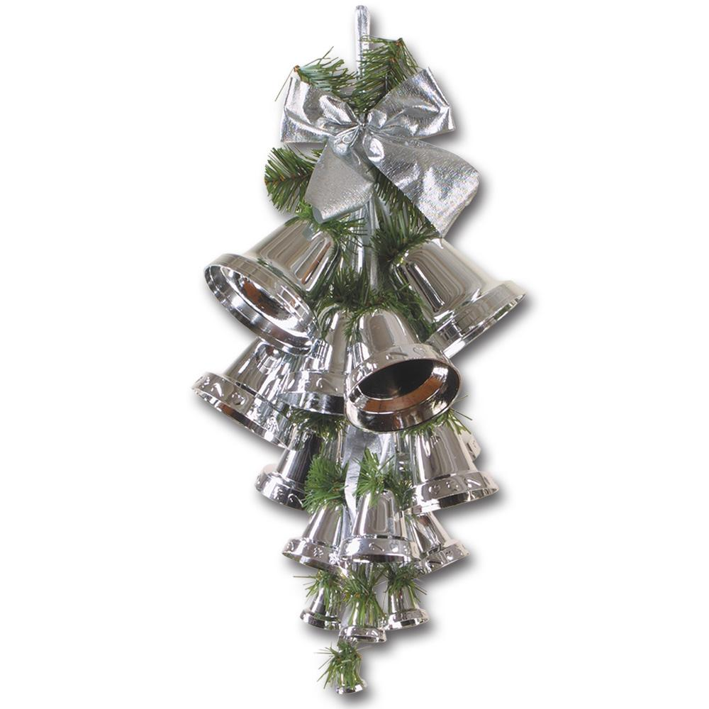 Details about Peeks Silver Bell Large Christmas Xmas Room Decorations Ceiling Hanging Cluster