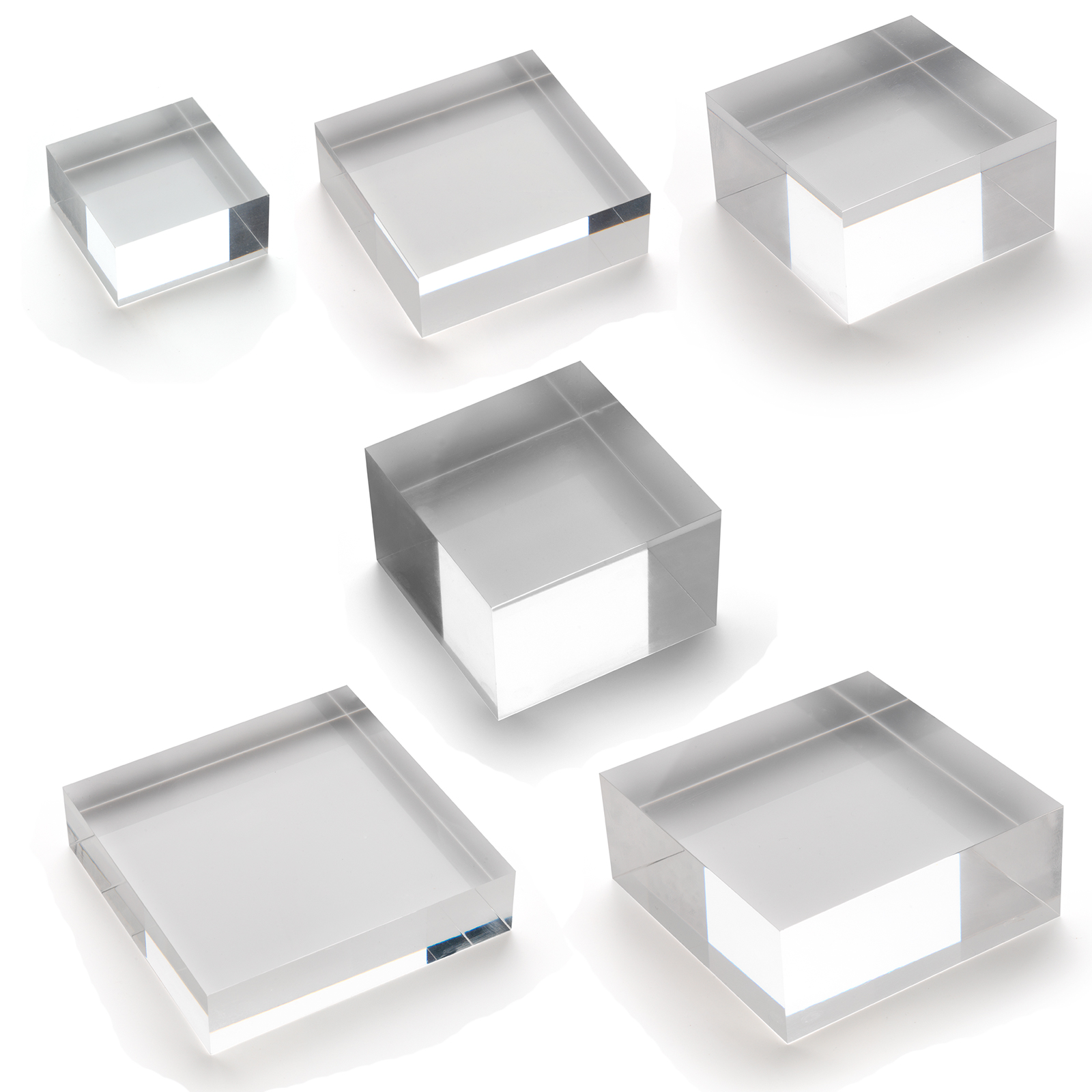 Details about Solid Clear Acrylic Shop Window Till Retail Collectors Shelf  Block Stand Display