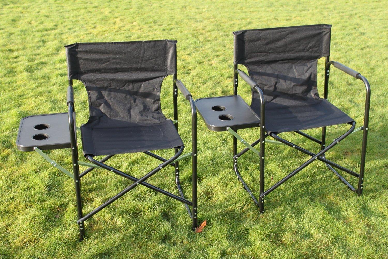Set Von 2 Zusammenklappbare Stühle Regisseure Stühle Mit Tisch U2013 Garten