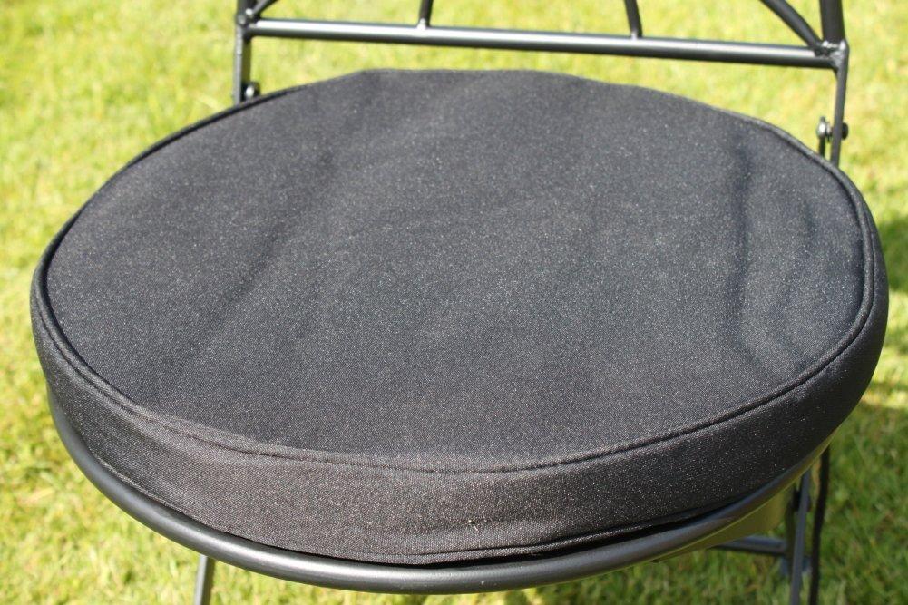 Coussin Rond Pour Chaise De Bistrot Coloris Noir