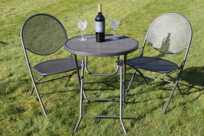 maille et – Détails Toptable jardin Cambridge chaises de Salon sur d'une Maille pliant 2 en v80OywnmN