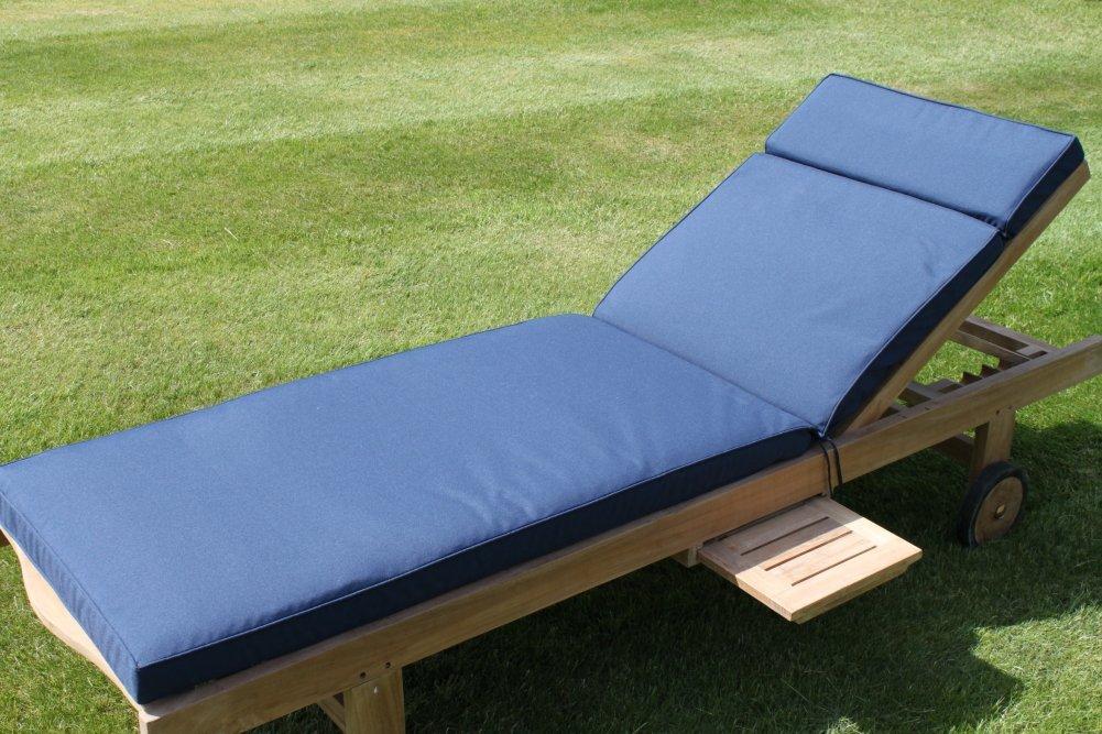 Coussin Pour Chaise Longue De Jardin Coloris Bleu Marine
