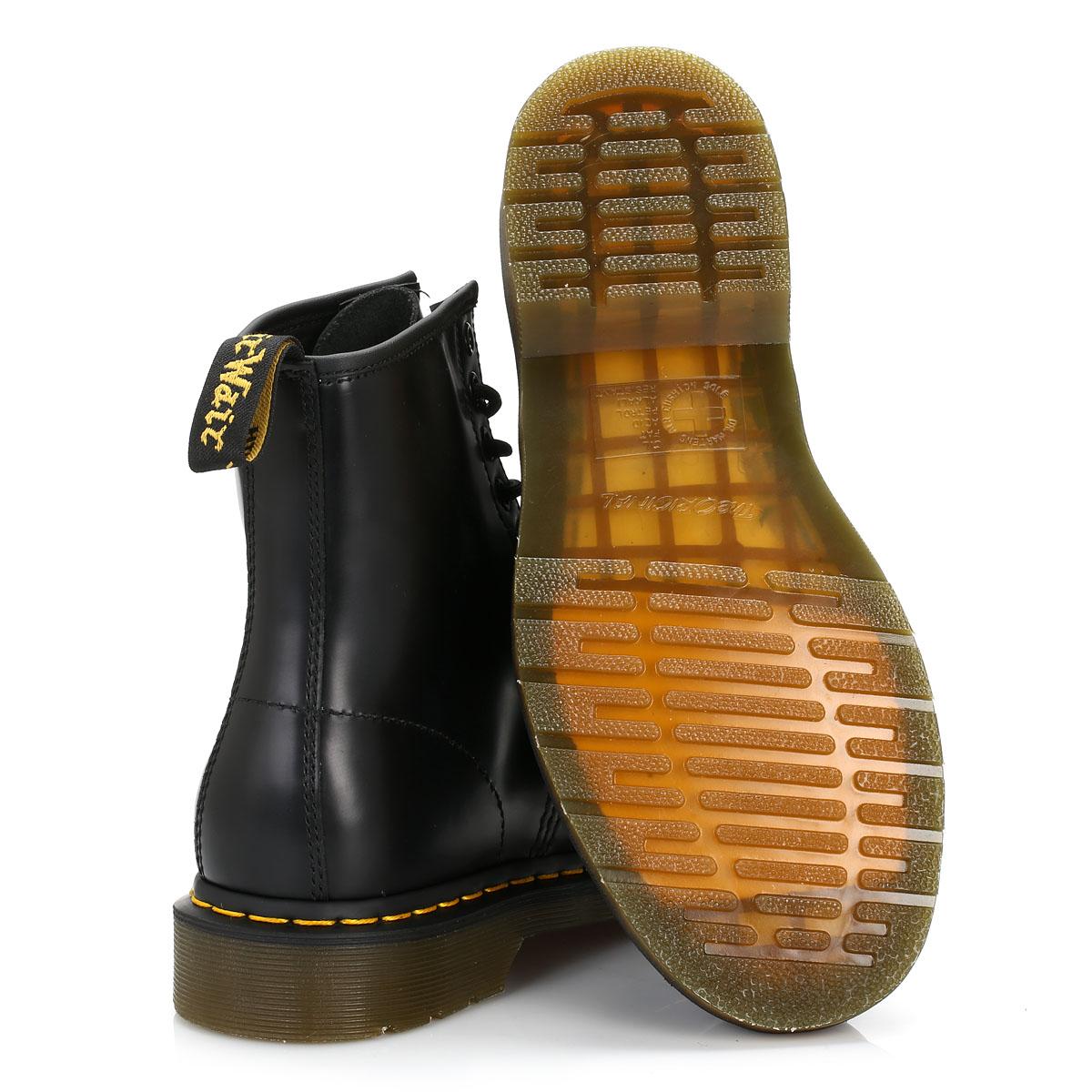 Dr. Martens Unisex Negro 1460 Botas al tobillo, Cuero, Zapatos con cordones, casuales, Docs