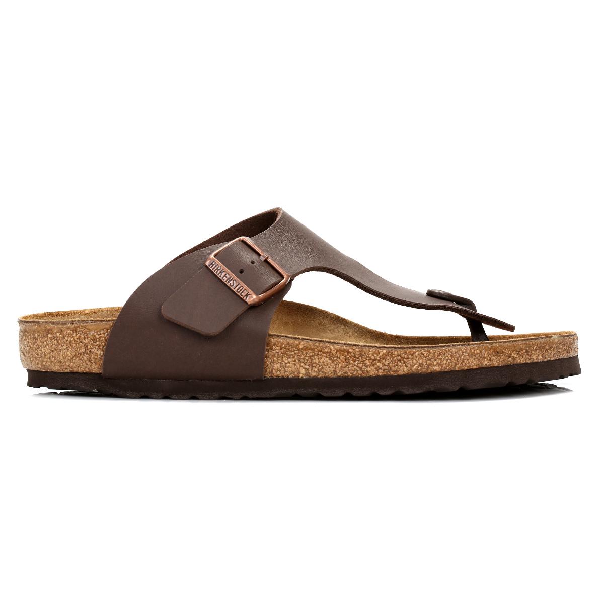 e9ee5c8397e3 Birkenstock Ramses Birko-Flor Mens Brown Leather Sandals Toe Post Summer  Shoes