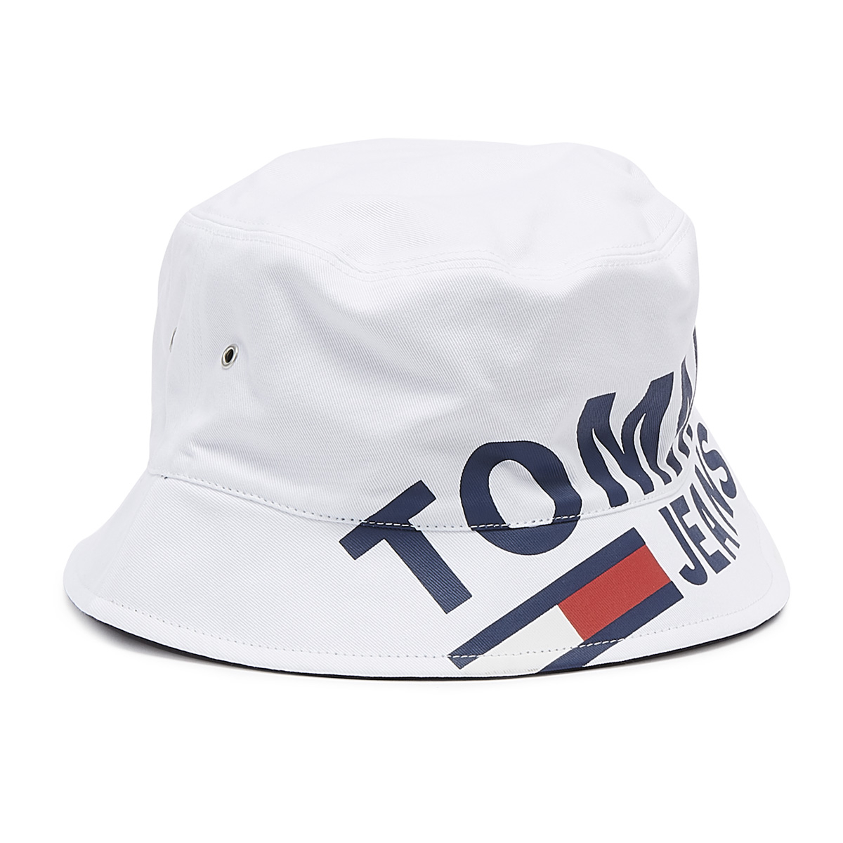 ecb1a9db0a9 Tommy Jeans TJU Logo White Bucket Hat 8719857077128