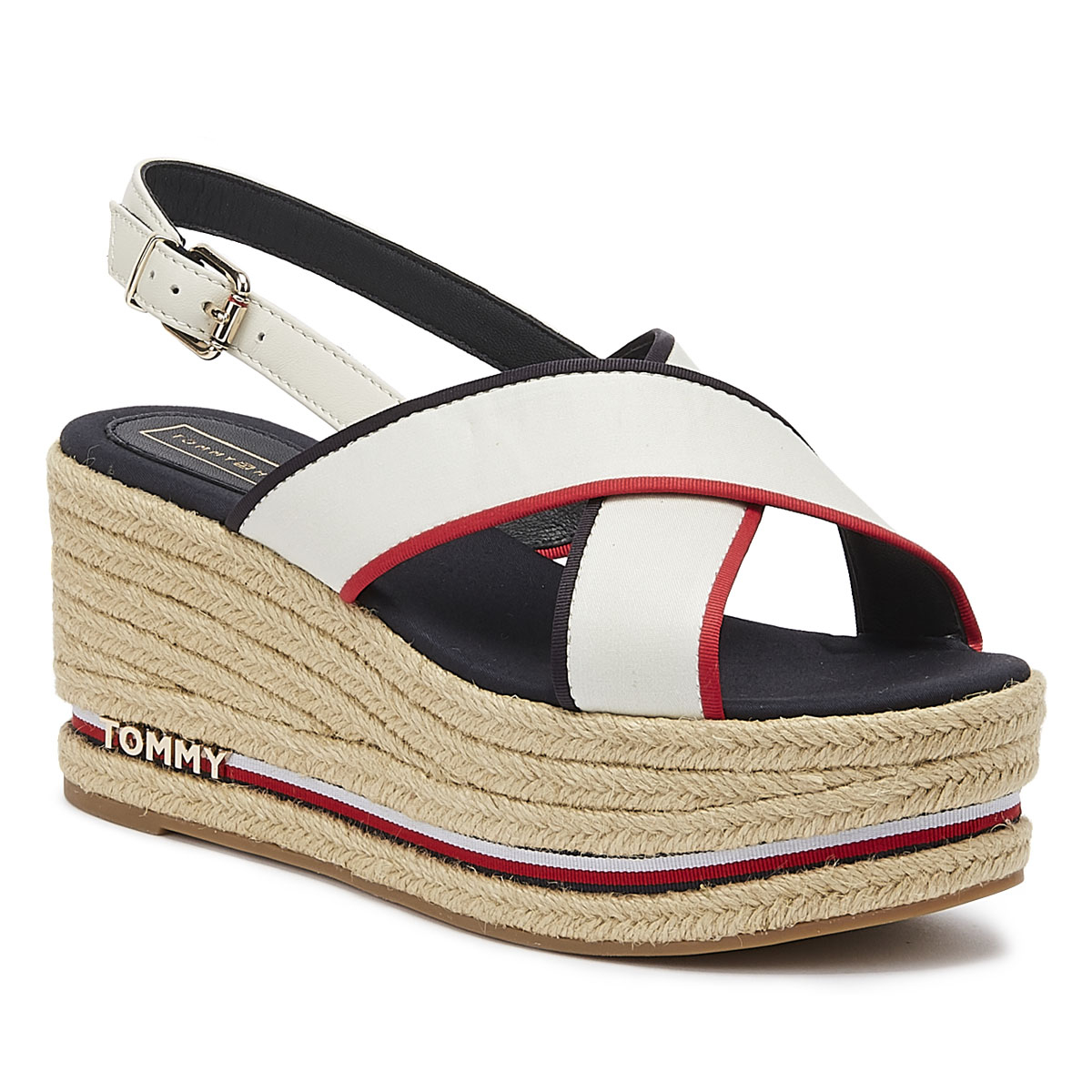 Tommy Hilfiger Flatform Sandal Corporate Womens Footwear Sandals Rwb All Sizes