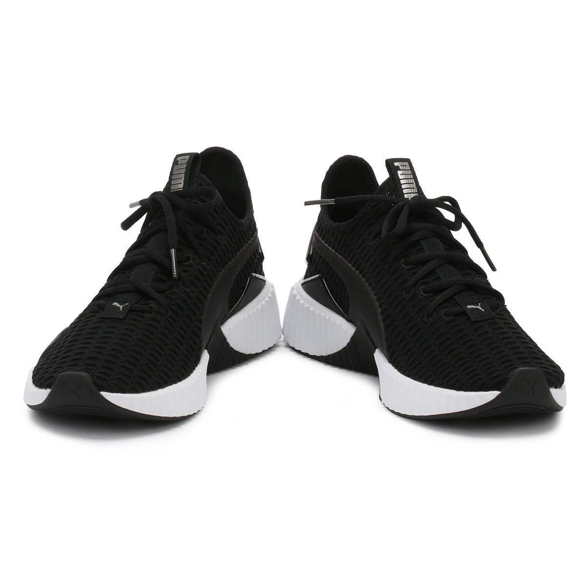 58f58ef07846 PUMA Womens Selena Gomez Black   Black Defy Trainers