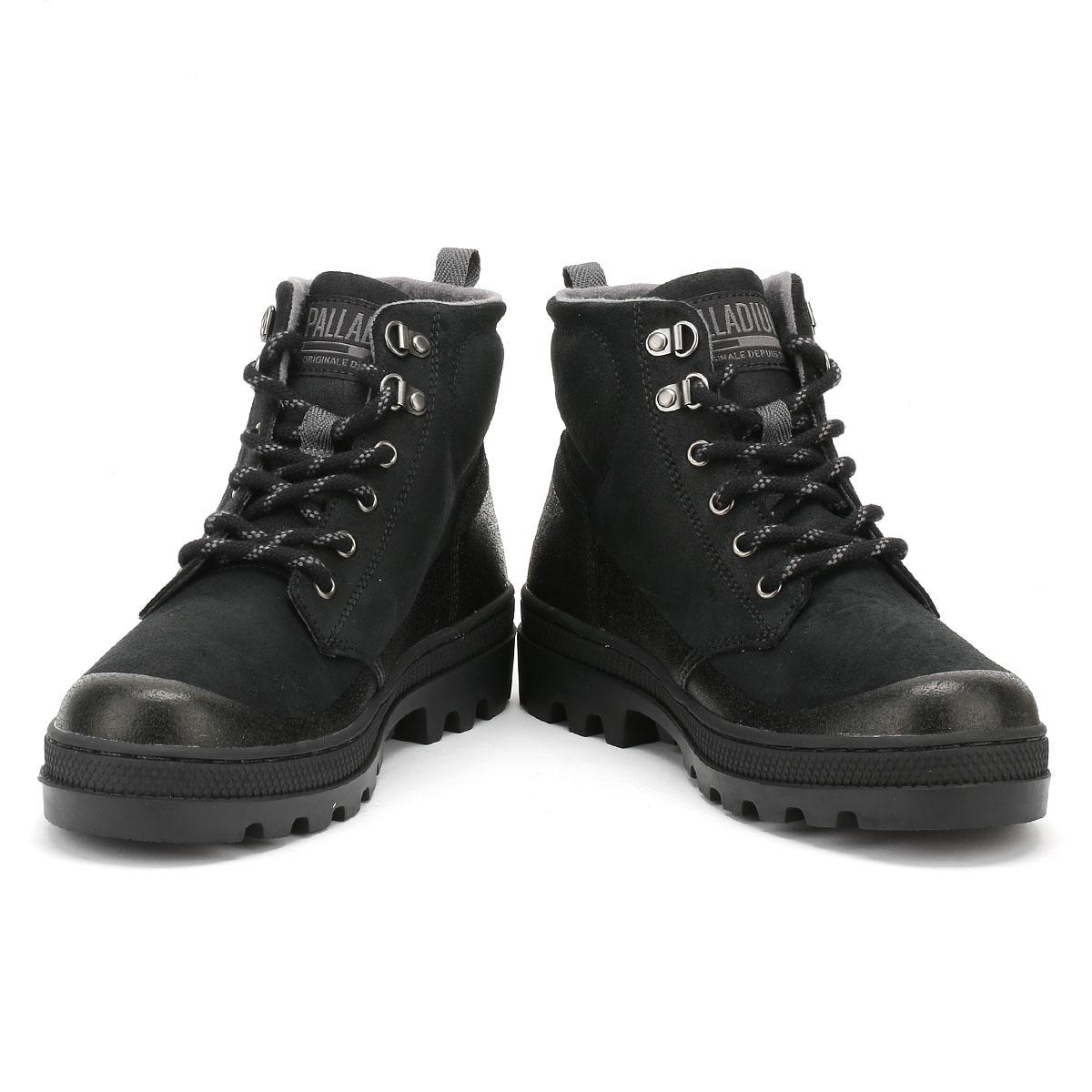 Palladium-para-hombre-Negro-O-Marron-pallabosse-Hikr-Botas-Zapatos-De-Gamuza-Tobillo-De-Invierno