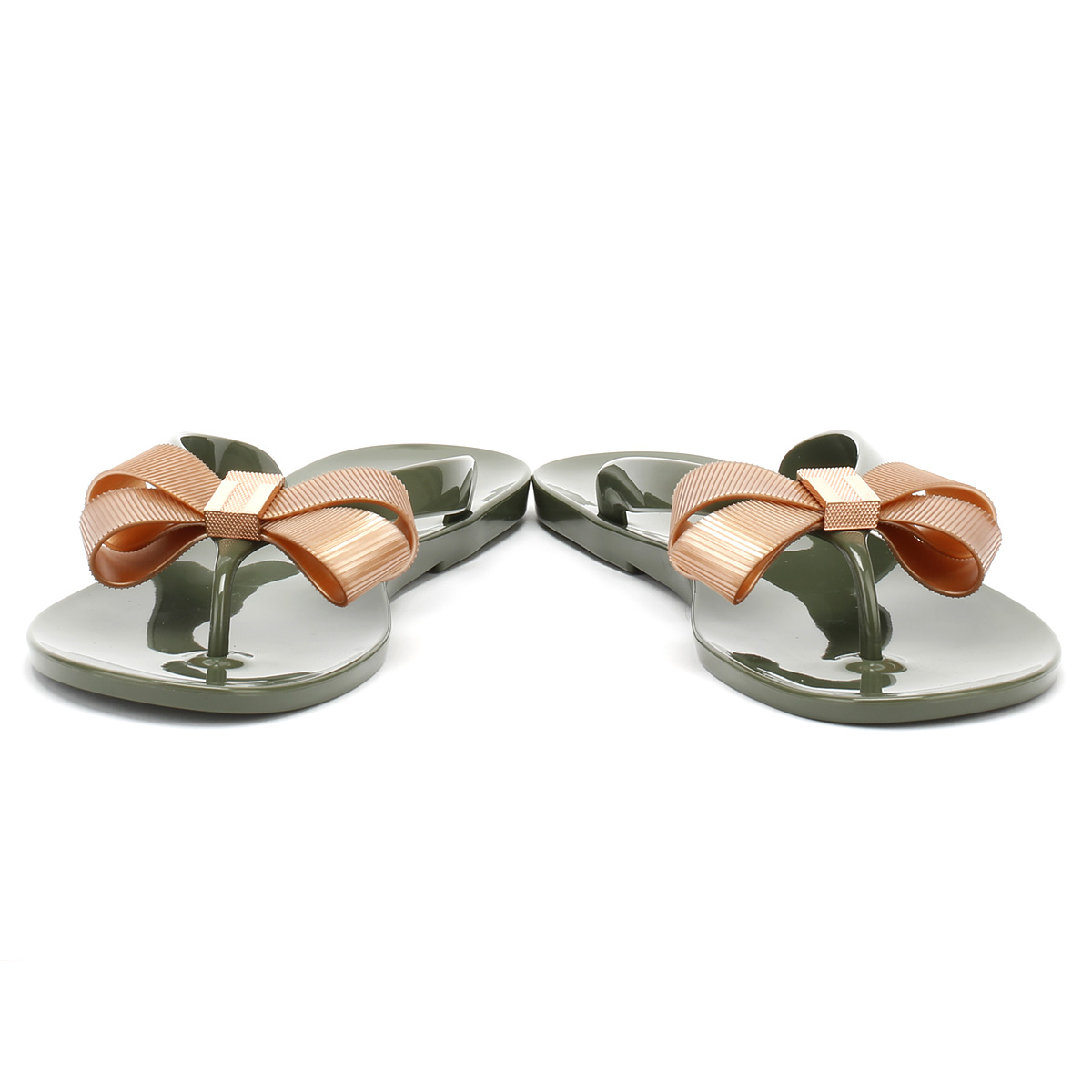 03ae60693a592 Ted Baker Suszie - Khaki rose Gold PVC (green) Womens Sandals 4 UK ...
