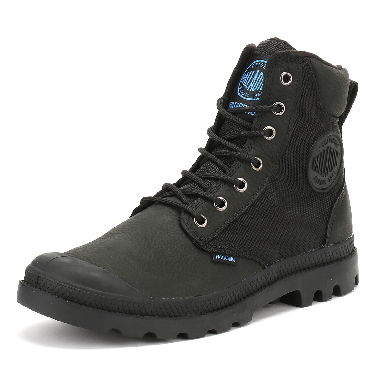 Details about Palladium Mens Black Pampa Sport Cuff WPN Boots Waterproof  Leather Winter Shoes 510b3abca