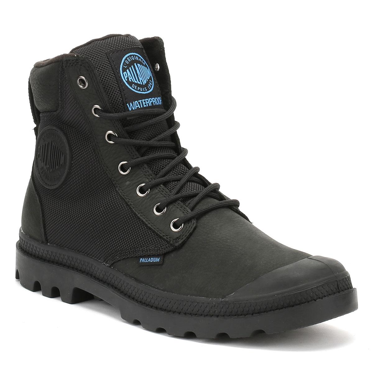 Mens Pampa Black Palladium Leather Waterproof Sport Wpn Cuff Boots qEwERd