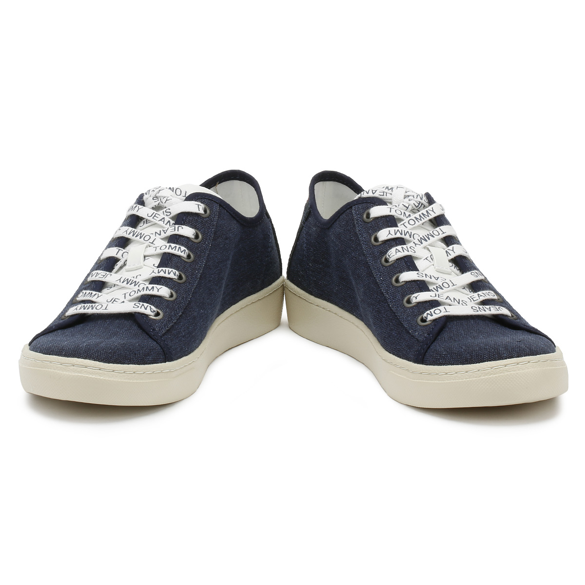 Tommy Jeans Mens Trainers Black Iris Low Lace Up Sport Casual Shoes