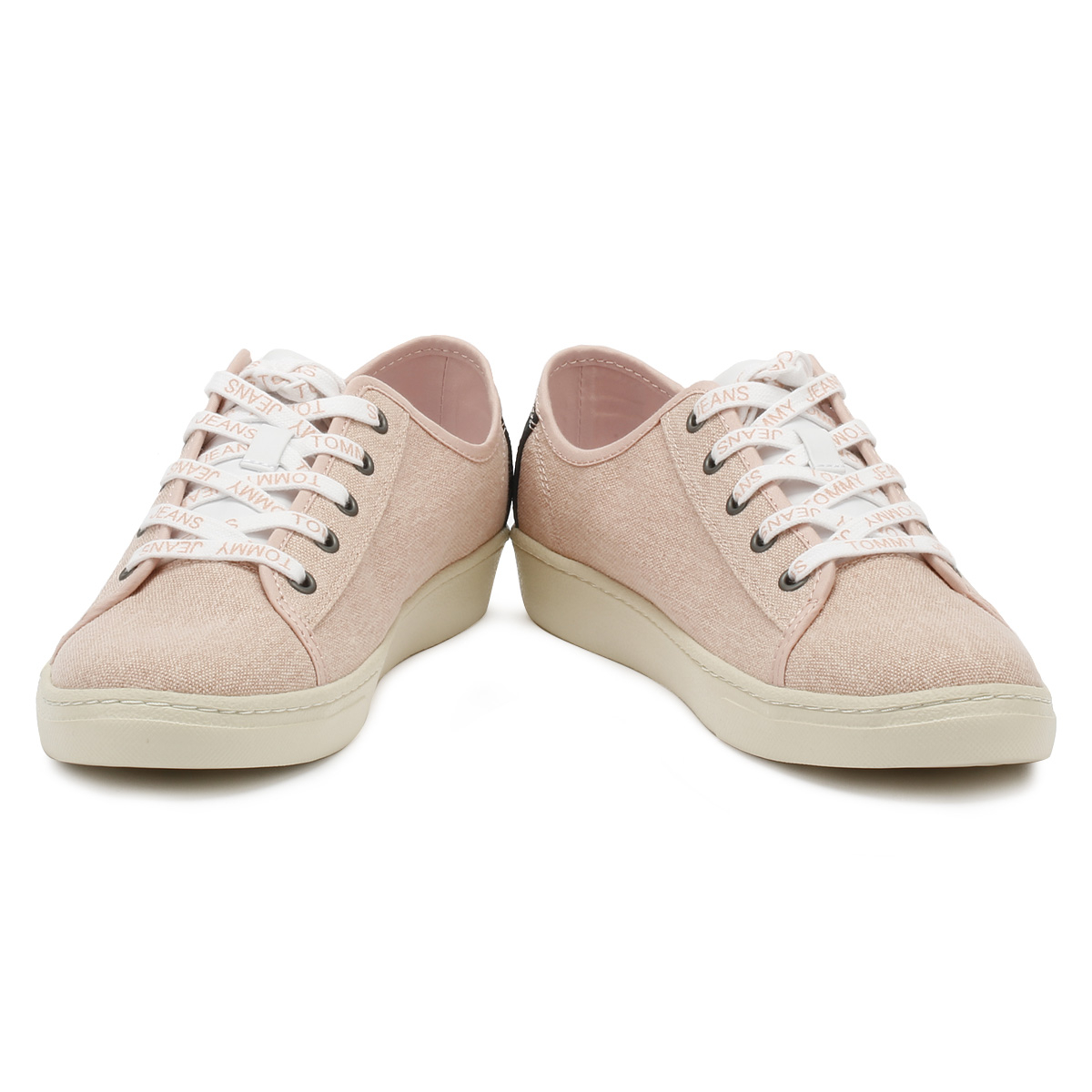 Tommy Jeans Low Womens Trainers Rose Cloud Low Jeans Lace Up Sport Casual Shoes eb2d1c