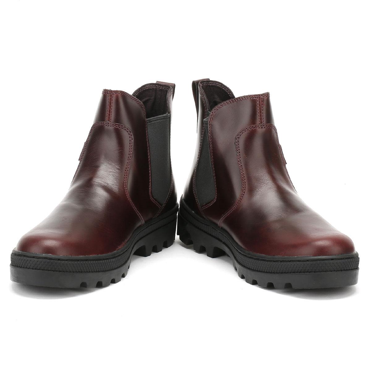 Palladium para mujer Negro O Borgoña botas Zapatos De De De Invierno De Cuero Chelsea pallabosse d9dc0b