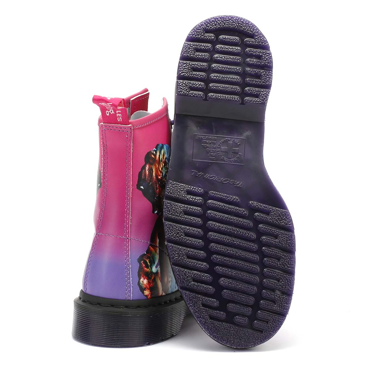 Dr. Martens Unisex Boots New New New Order Purple Backhand 1460 Technique Shoes 88ae07