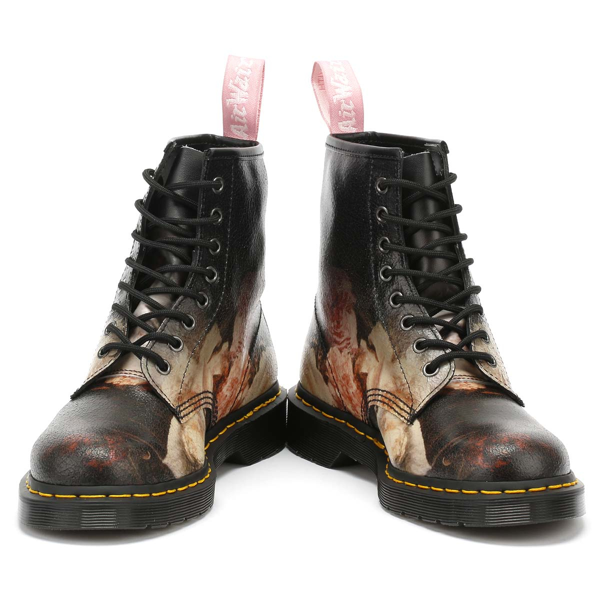 Dr. Martens Unisex Boots New Order Black Cristal Suede Power Corruption Shoes