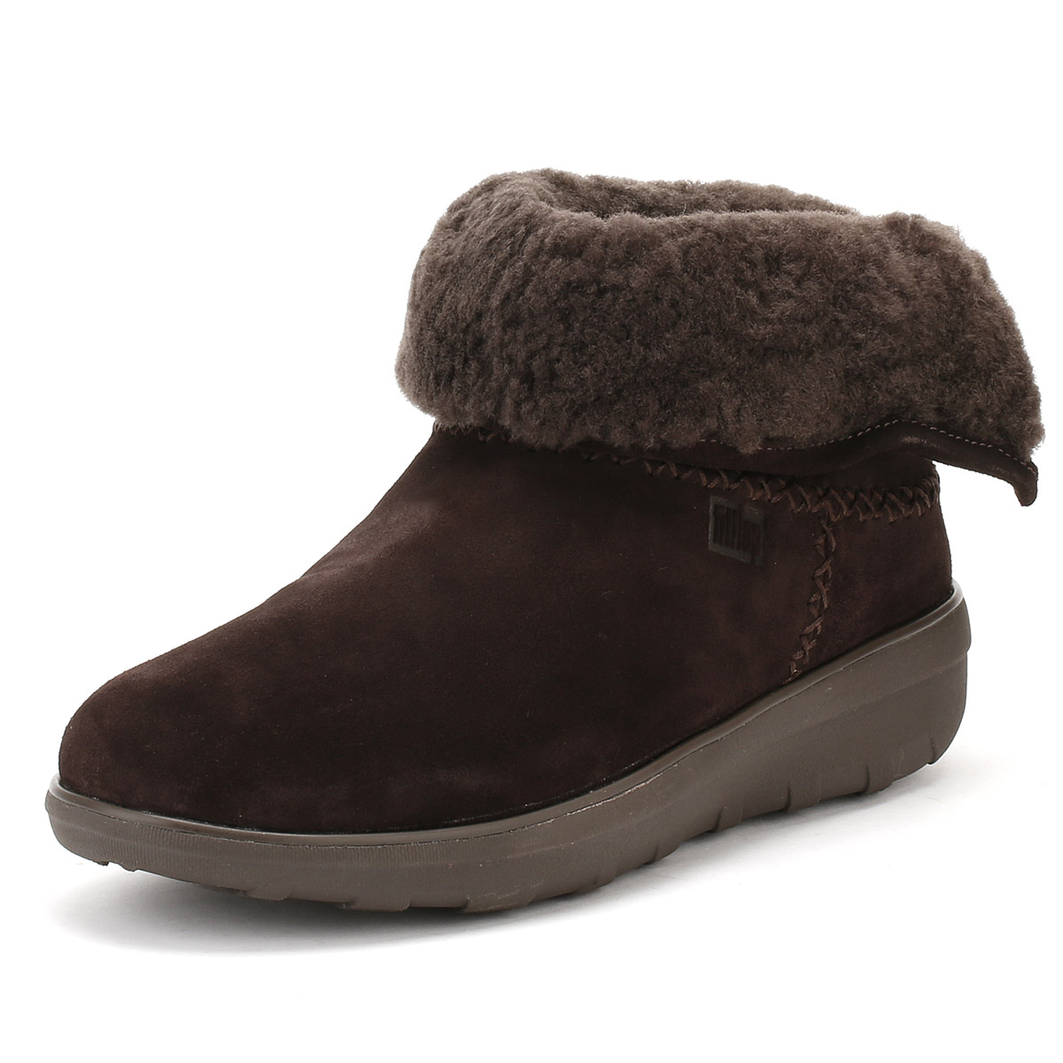 f263b2ceb9 Details about FitFlop Womens Chocolate Dark Brown Mukluk Shorty II Boots  Leather Winter Shoes