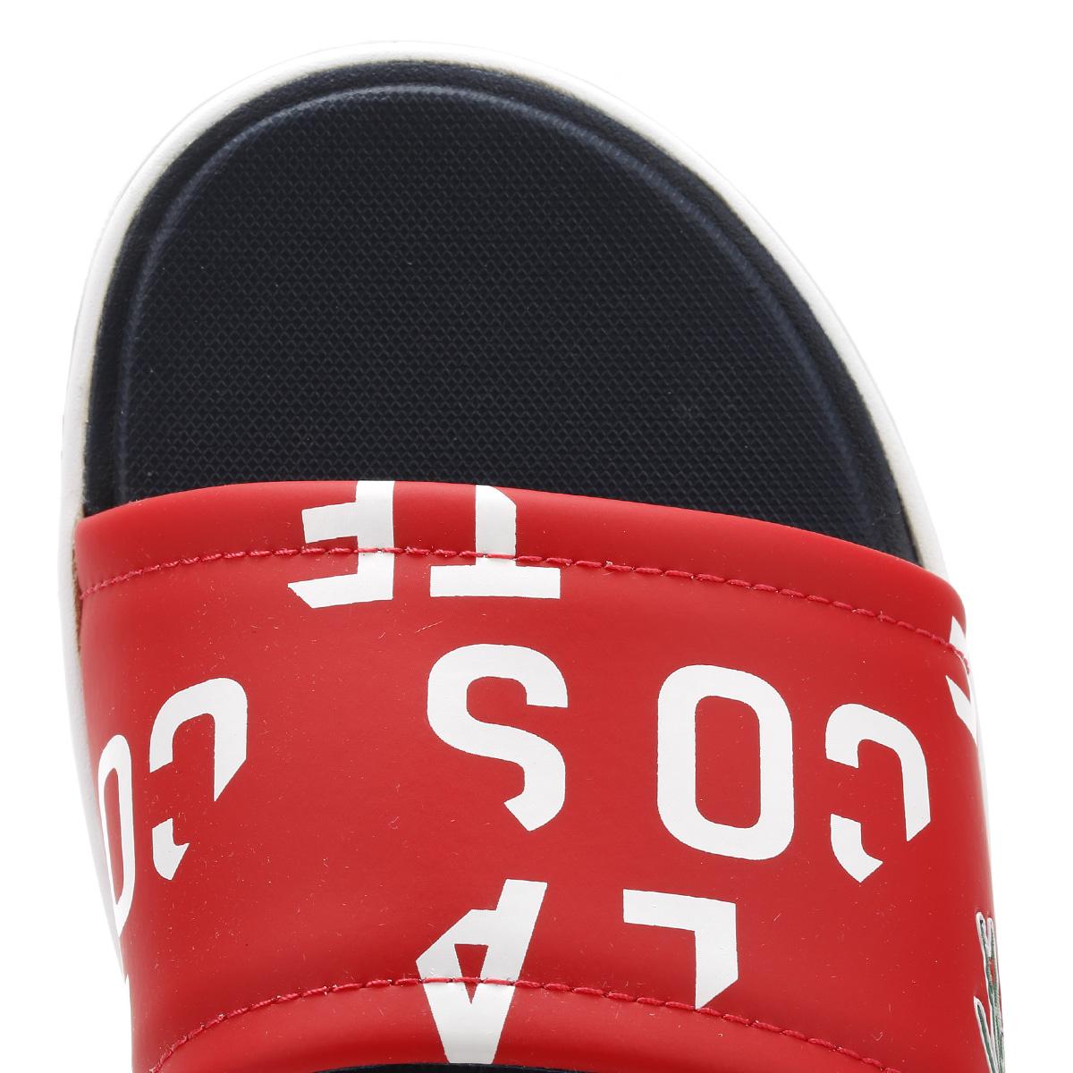 ec4bf2691e Lacoste Mens Red Flip Flops, L.30 Slide 117 2 CAM, Summer, Beach | eBay