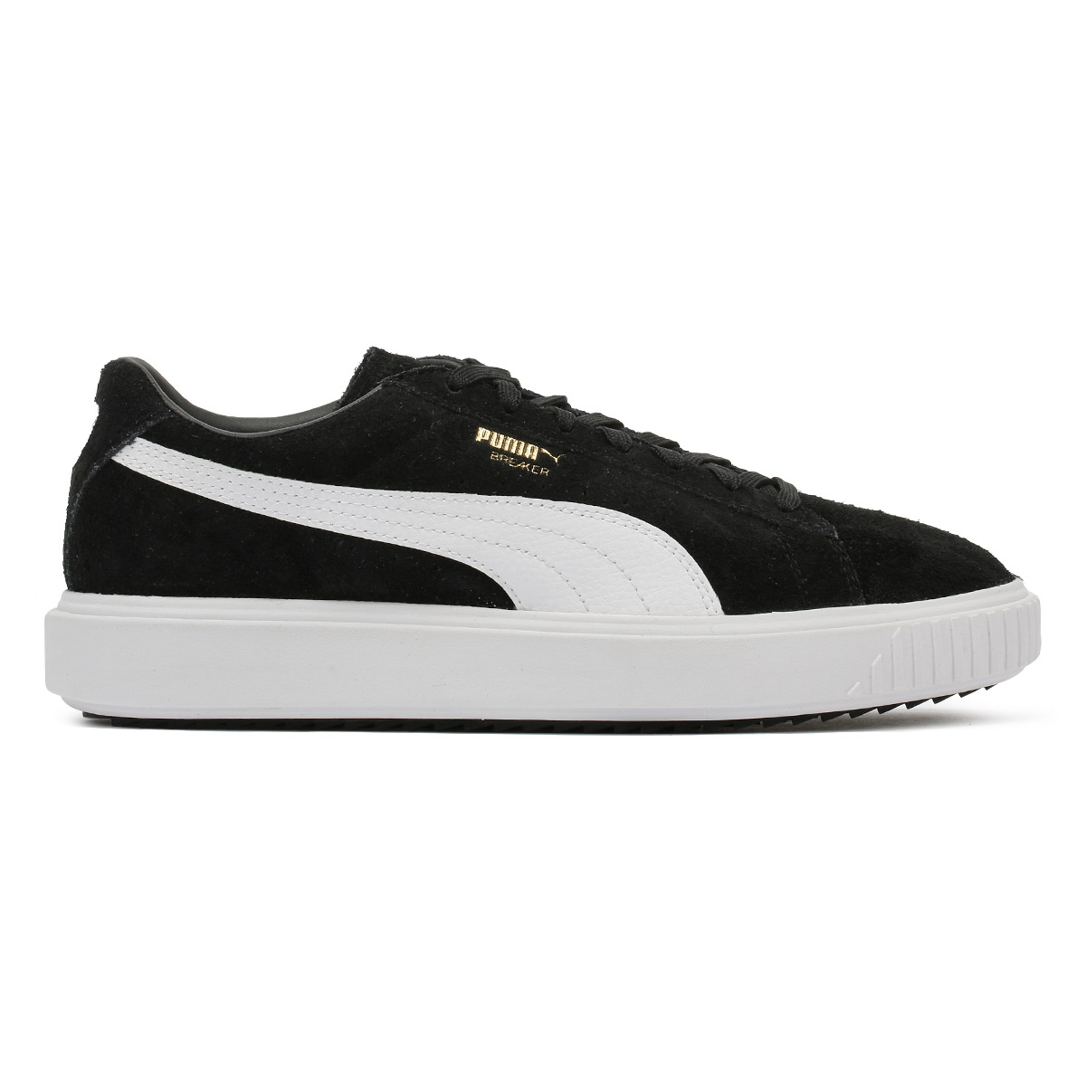 PUMA Mens Trainers schwarz Casual Breaker Suede Lace Up Sport Casual schwarz Schuhes 37dbef
