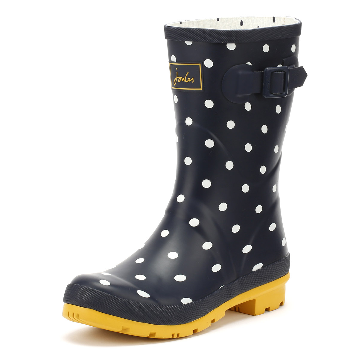 Joules Womens Wellington Rubber Boots French Navy Spot Molly Wellies