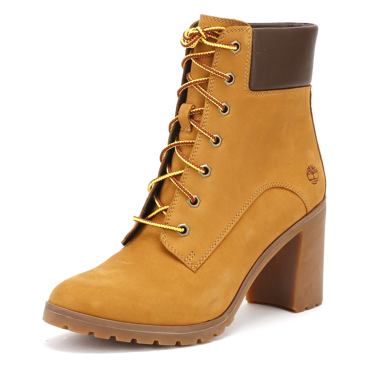 e262103ade4d Timberland Womens Wheat Yellow Allington 6 Inch Boots Leather Mid Heel Shoes