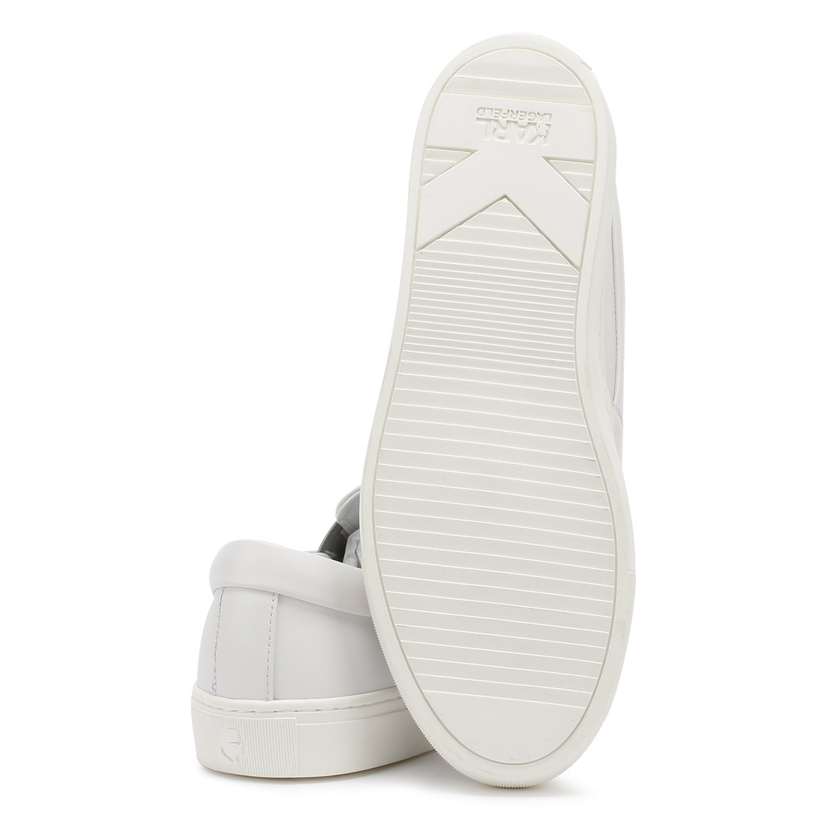 Karl Lagerfeld Womens Trainers Kupsole On Ikonic Slip On Kupsole White Casual Shoes d152a4