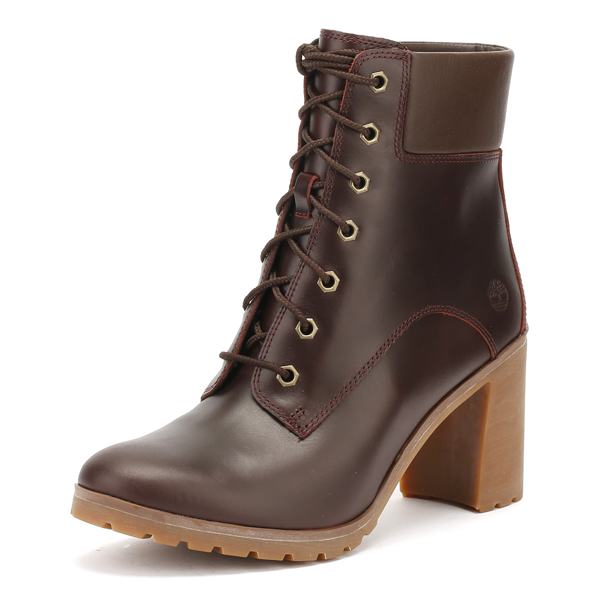 Details about Timberland Womens 6 Inch Boots Redwood Burgundy Allington Mid  Heel Winter Shoes 5d727dfff6