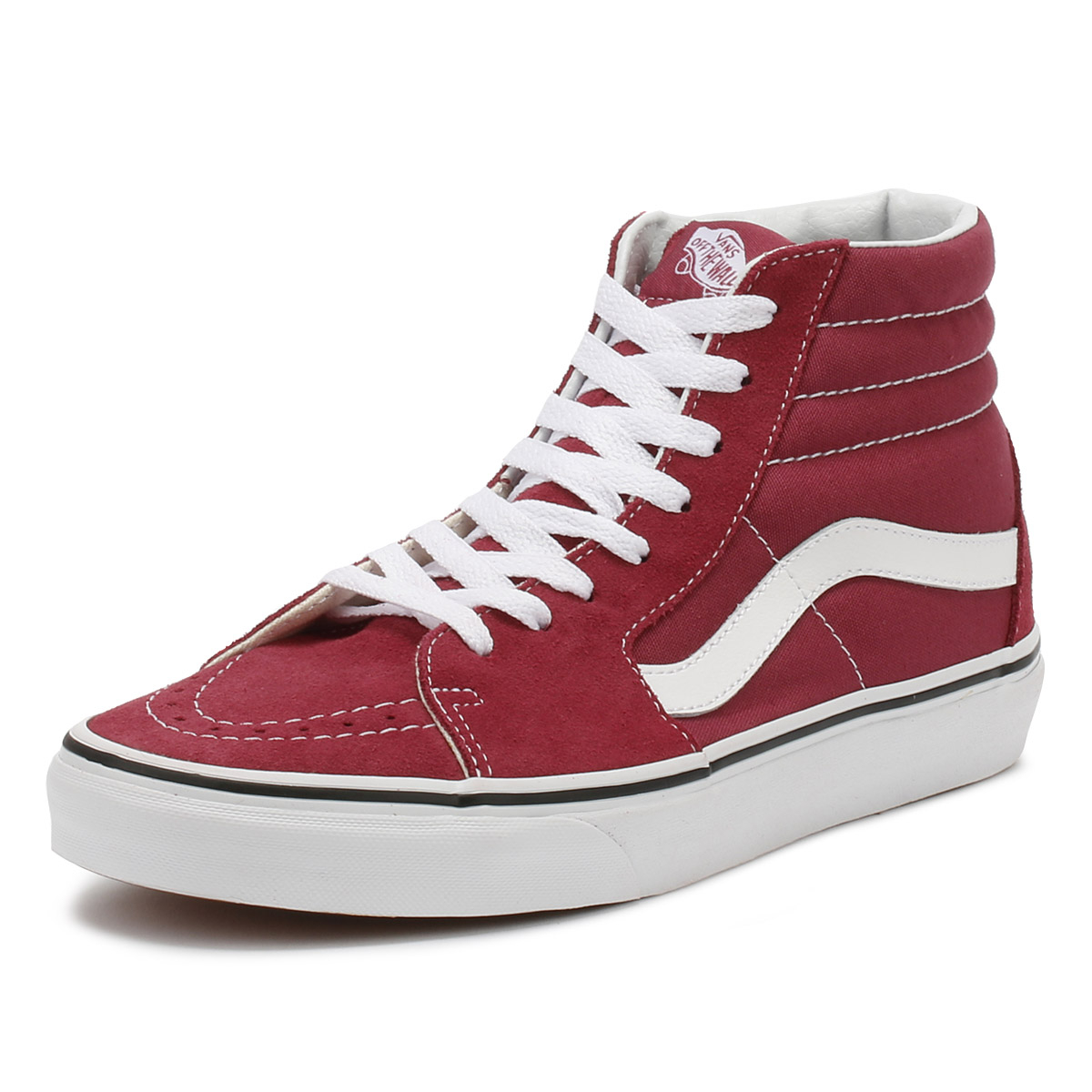Vans Unisex Trainers Dry Rose Red Red Red & True White SK8-Hi Lace Up Sport Casual Shoes de5e53