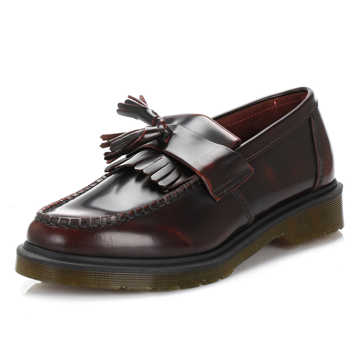 Dr. Adrian Martens  Uomo Docs Casual Schuhes Cherry ROT Adrian Dr. Leder Loafers LaceUp Boat 3923a5
