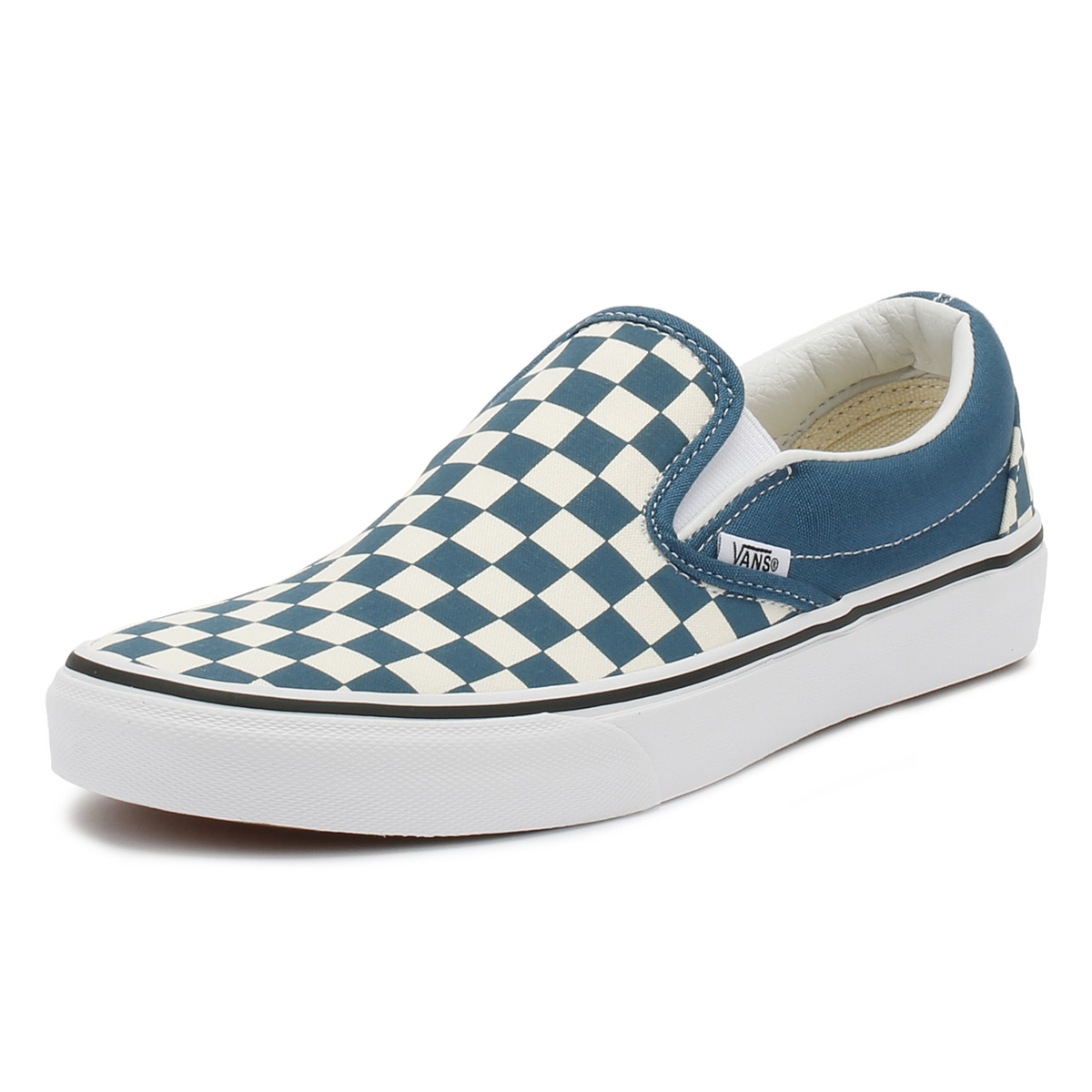 5cce9518acc6 Details about Vans Unisex Trainers Corsair   True White Checkerboard  Classic Slip On Shoes