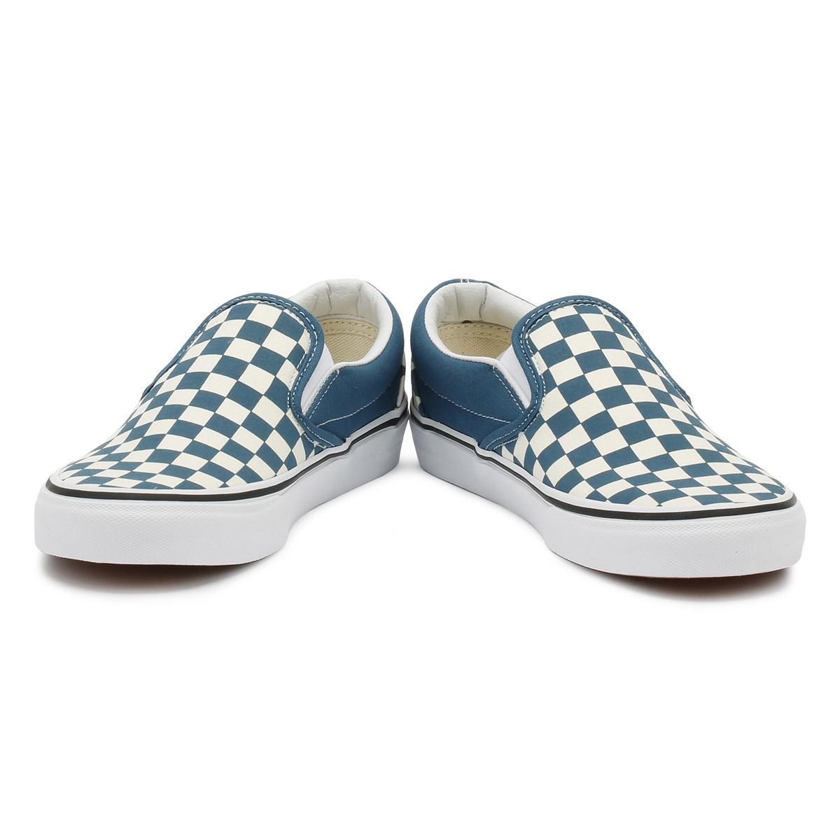 3e022350922 Vans Unisex Trainers Corsair   True White Checkerboard Classic Slip On Shoes
