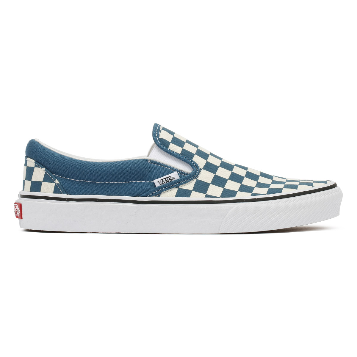 0b5a01a2229 Vans Unisex Trainers Corsair   True White Checkerboard Classic Slip On Shoes