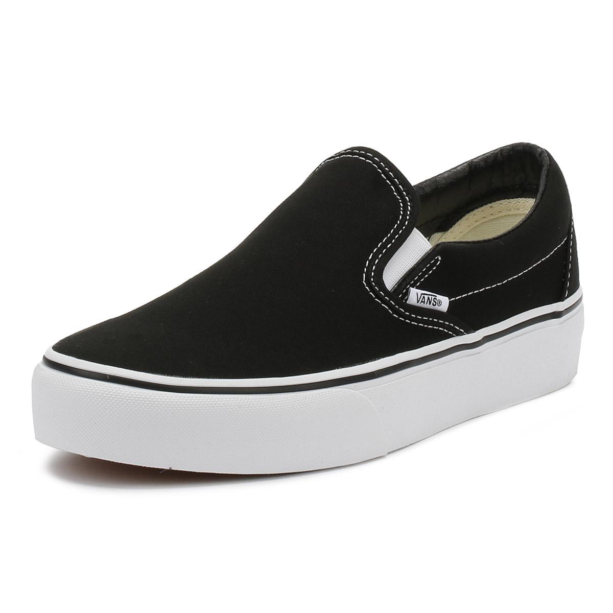 Details about Vans Womens Trainers Black Classic Slip On Platform Ladies  Sport Casual Shoes e4bca8a70